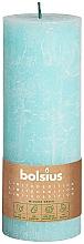 Perfumería y cosmética Vela cilíndrica, azul, 190x68 mm - Bolsius