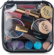 Perfumería y cosmética Neceser cosmético, transparente (17x17x6cm) - MakeUp Visible Bag (sin contenido)
