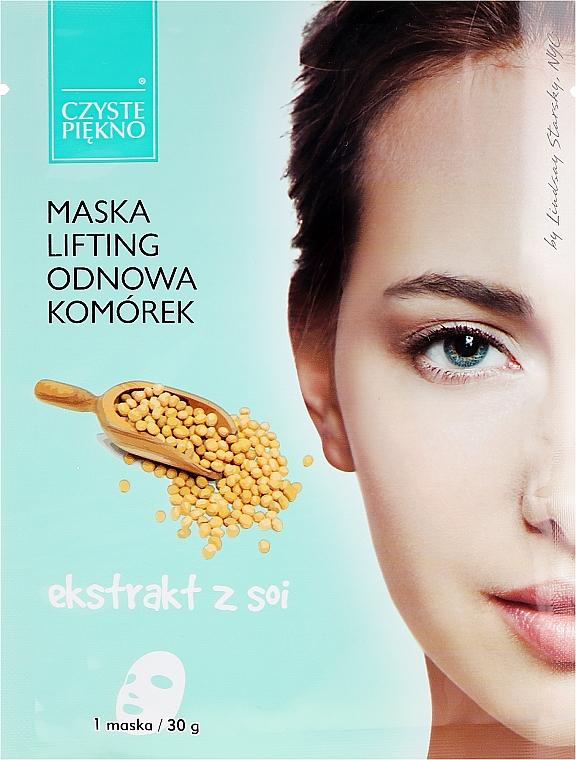 Mascarilla facial con extracto de soja - Czyste Piekno Lifting Face Mask