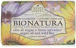 Perfumería y cosmética Jabón vegetal con aceite de argán y heno silvestre - Nesti Dante Bio Natura Argan Oil & Wild Hay Soap