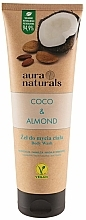 Perfumería y cosmética Gel de ducha hidratante con coco y almendra, vegano - Aura Naturals Coco & Almond Body Wash