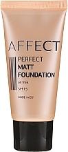 Perfumería y cosmética Base de maquillaje con efecto mate para pieles normales y grasas, SPF 15 - Affect Cosmetics Perfect Matt Foundation