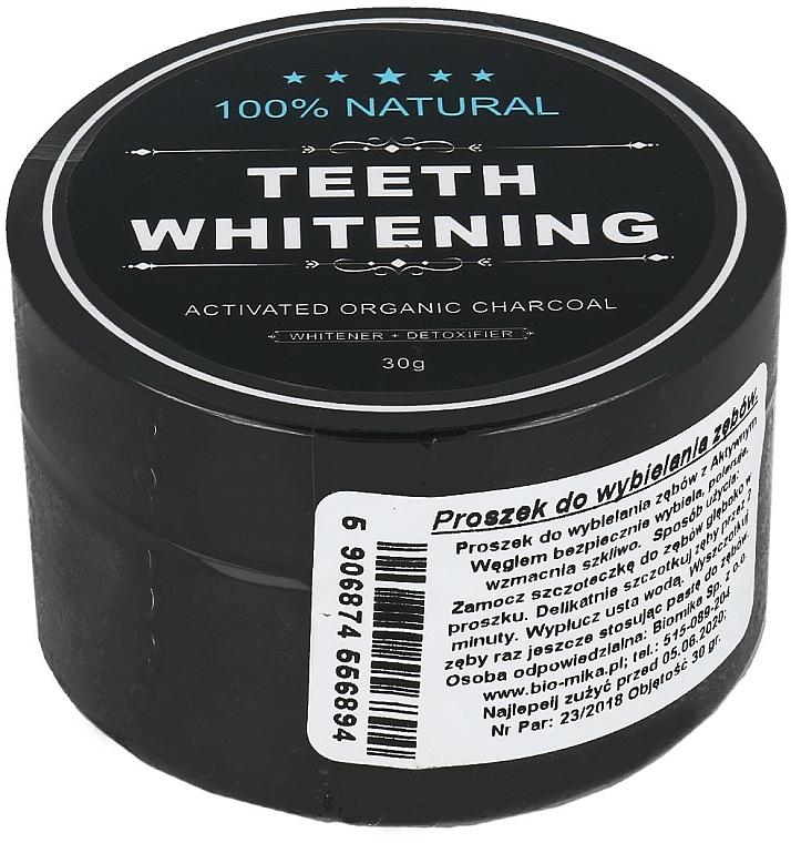 Polvo dental blanqueador natural con carbón activado - Biomika Natural Teeth Powder