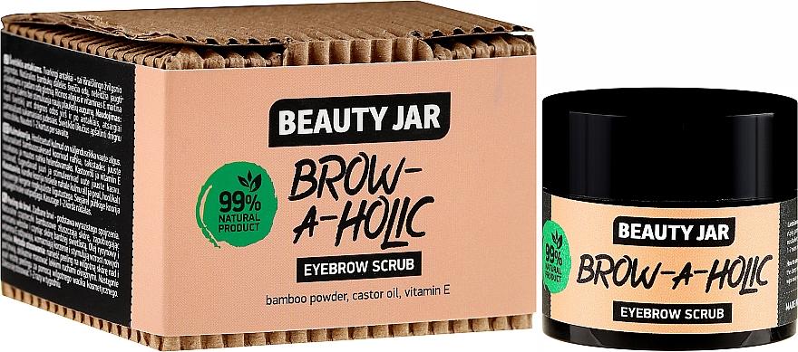 Exfoliante de cejas natural con polvo de bambú y vitamina E - Beauty Jar Brow-A-Holic Eyebrow Scrub