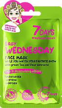 Perfumería y cosmética Mascarilla facial con té verde y extracto de pera - 7 Days Easy Wednesday