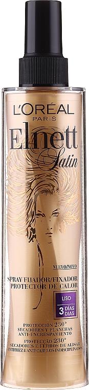 Spray fijador de cabello con protección térmica - L'Oreal Paris Elnett Satin Smooth Spray Protector — imagen N1
