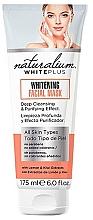 Perfumería y cosmética Mascarilla facial de limpieza profunda y efecto purificador con extracto de limón y kiwi - Naturalium White Plus Whitening Facial Mask