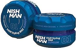 Perfumería y cosmética Cera moldeadora de cabello, fijación firme - Nishman Hair Styling Wax 01 Gumgum