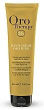 Perfumería y cosmética Crema de manos con aceite de argán - Fanola Oro Therapy Hand Cream Oro Puro