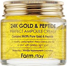 Perfumería y cosmética Crema facial hidratante con oro puro 24K y péptidos - FarmStay 24K Gold & Peptide Perfect Ampoule Cream