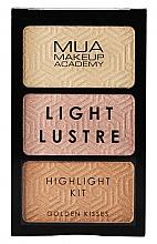 Perfumería y cosmética Paleta de iluminadores faciales - MUA Light Lustre Trio Highlight