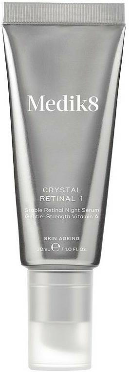 Sérum facial de noche con 0,01% retinaldehído, ácido hialurónico y vitamina E - Medik8 Crystal Retinal 1
