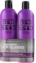 Perfumería y cosmética Set reconstructor para cabello tratado - Tigi Bed Head Dumb Blonde (champú/750ml + acondicionador/750ml)