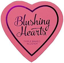 Perfumería y cosmética Colorete en polvo compacto, 3 tonos - I Heart Revolution Blushing Hearts Blusher