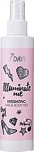 Perfumería y cosmética Spray hidratante para cuerpo y cabello con ácido hialurónico y extracto de frambuesa - 7 Days Illuminate Me Hydrating Hair & Body Mist