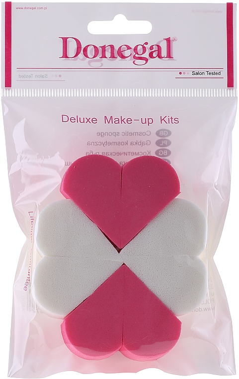 Esponja de maquillaje, 9672, Corazón - Donegal Deluxe Make-Up Kits