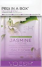 Perfumería y cosmética Set de pedicura en 4 pasos con extracto de pétalos de jazmín - Voesh Pedi In A Box Deluxe Pedicure Jasmine Soothe (35 g)