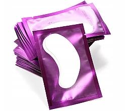 Perfumería y cosmética Parche de gel para extensión de pestañas, violeta - Lewer Lint Free Under Eye Gel Patches For Eyelash Extensons