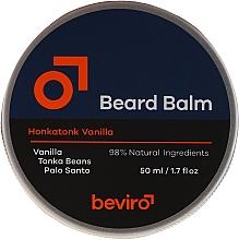 Perfumería y cosmética Bálsamo natural para barba con aceite de jojoba - Beviro Beard Balm Vanilla, Palo Santo, Tonka Boby