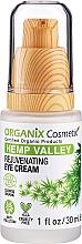 Perfumería y cosmética Crema rejuvenecedora para contorno de ojos con aceite de cañamo - Organix Cosmetix Hemp Valley Rejuvenating Eye Cream