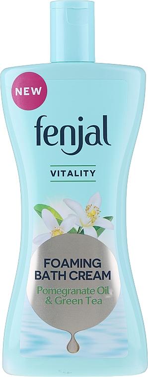 Crema de baño con aceite natural de granada y extracto de té verde - Fenjal Vitality Pomegranate Oil & Green Tea Foaming Bath Cream