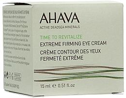 Perfumería y cosmética Crema revitalizante para contorno de ojos con ácido hialurónico y manteca de karité - Ahava Time to Revitalize Extreme Firming Eye Cream
