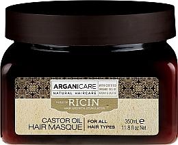 Perfumería y cosmética Mascarilla para cabello con aceite de argán & ricino - Arganicare Castor Oil Hair Masque