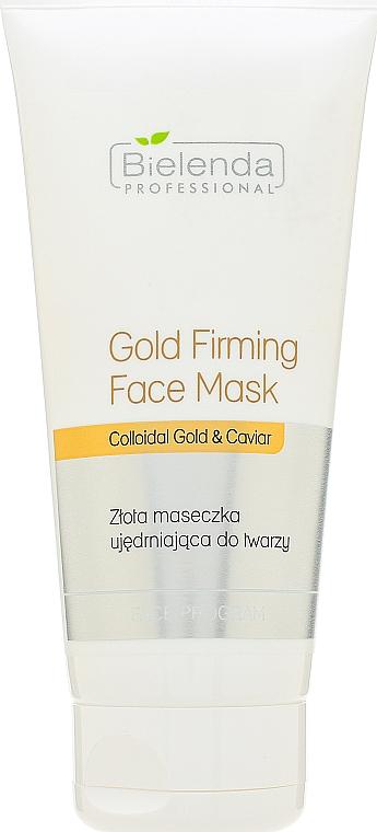 Mascarilla facial reafirmante con oro coloidal y extracto de caviar - Bielenda Professional Program Face Gold Firming Face Mask