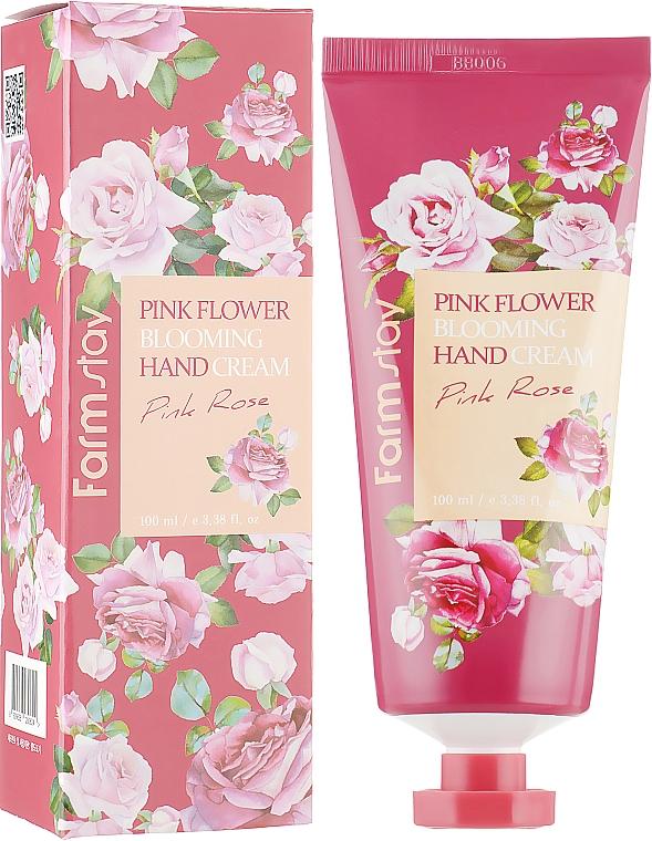 Crema de manos con extracto de pétalos de rosa - FarmStay Pink Flower Blooming Hand Cream Pink Rose