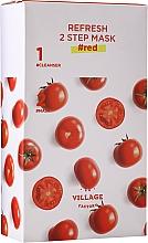 Perfumería y cosmética Mascarilla facial bifásica de tomate - Village 11 Factory Refresh 2-Step Mask Red