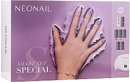 Perfumería y cosmética NeoNail Professional First Step Smart Set - Set de manicura (lámpara LED + base/7.2ml + top/7.2ml + esmalte gel/5x3ml + removedor/50ml + lima de uñas/2uds. + desengrasante/50ml)