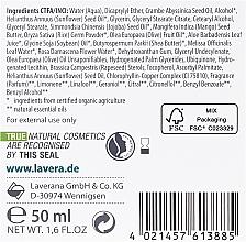 Crema facial hidratante con coenzima Q10 y aceite de jojoba orgánico - Lavera Basis Sensitive Moisturizing Cream Q10 — imagen N3