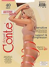 Perfumería y cosmética Pantis Active Soft, 40 Den, efecto bronceado - Conte