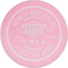Perfumería y cosmética Manteca de karité 98% para cuerpo y cabello con aroma a rosas - Institut Karite Rose Mademoiselle Scented Shea Butter