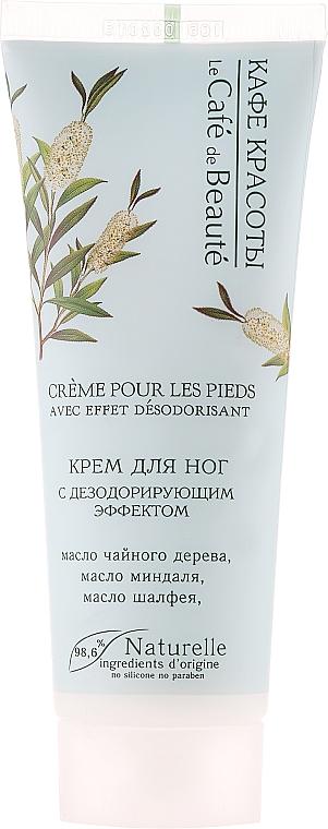 Crema de pies natural efecto desodorante con aceite de árbol de té y almendra - Le Cafe de Beaute Foot Cream