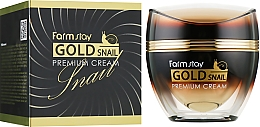 Perfumería y cosmética Crema facial con baba de caracol y extracto de jalea real - FarmStay Gold Snail Premium Cream