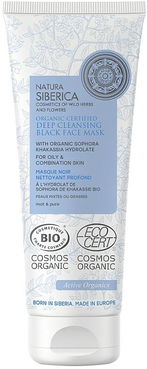 Mascarilla de limpieza facial a base de hidrolato orgánico de sophora khakassia - Natura Siberica Organic Certified Deep Cleansing Black Face Mask