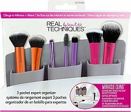 Perfumería y cosmética Organizador de brochas de maquillaje gris - Real Techniques 3 Pocket Expert Organizer Grey