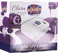 Perfumería y cosmética Lámpara UV para manicura, rosa - Ronney Profesional Clara UV 36W (GY-UV-818) Lamp