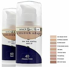 Base de maquillaje líquida con fórmula ultra fina, acabado natural y cobertura homogénea - Max Factor Colour Adapt — imagen N2
