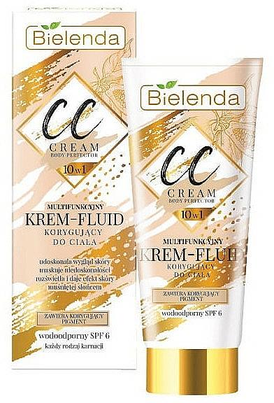 Crema correctora corporal 10en1 efecto bronceador con extracto de nuez, resistente al agua - Bielenda Magic CC 10in1 Body Correction Cream Waterproof Tanning Effect SPF6