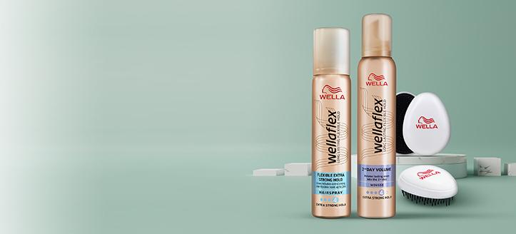 Consigue un cepillo de regalo por la compra de lacas y espumas de cabello Wellaflex