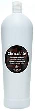 Perfumería y cosmética Champú con extracto de cacao, queratina y proteína de leche - Kallos Cosmetics Chocolate Full Repair Shampoo
