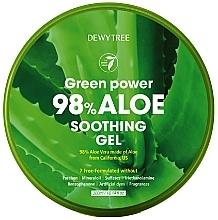 Perfumería y cosmética Gel calmante para rostro, cuerpo y cabello de aloe vera - Dewytree Green Power Aloe Soothing Gel