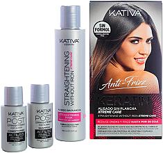 Perfumería y cosmética Set para cabello - Kativa Anti-Frizz Straightening Without Iron Xtreme Care (mascarilla/150ml + champú/30ml + acondicionador/30ml)