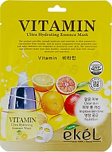 Perfumería y cosmética Mascarilla facial de tejido hidratante con vitaminas - Ekel Vitamin Ultra Hydrating Mask