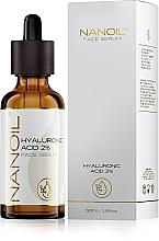 Perfumería y cosmética Sérum facial hidratante con ácido hialurónico - Nanoil Face Serum Hyaluronic Acid 2%