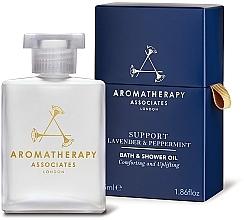 Perfumería y cosmética Aceite de baño y ducha de lavanda y pimienta negra - Aromatherapy Associates Support Lavender & Peppermint Bath & Shower Oil
