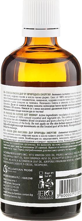 Aceite de masaje, Energía - Bulgarian Rose Nature Gift Energy Massage Oil — imagen N2
