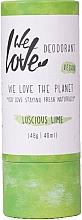 Perfumería y cosmética Desodorante crema natural - We Love The Planet Deodorant Luscious Lime